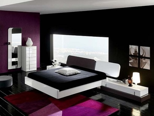 Modern Bedroom with a Window Behind the Bed