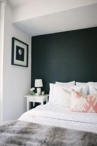 Nice Bedroom with Black Walls
