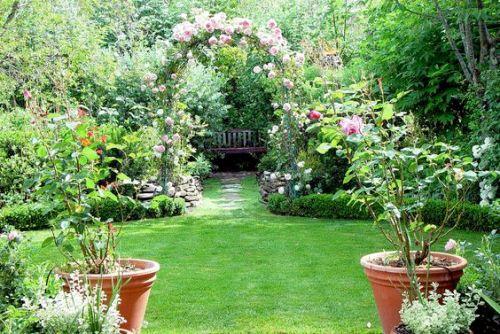 Nice Garden of Flowers