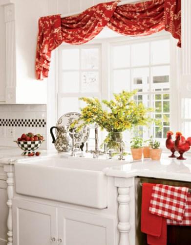 Red Kitchen Curtain