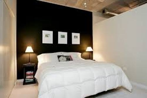 Small Bedroom with Black Walls