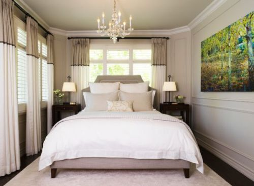 Small Bedroom with a King Bed and Chandelier