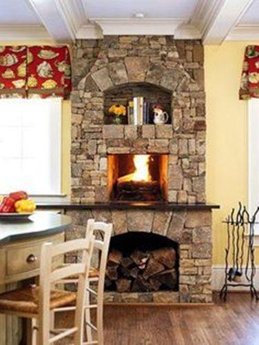Stone Kitchen Fireplace Mantel