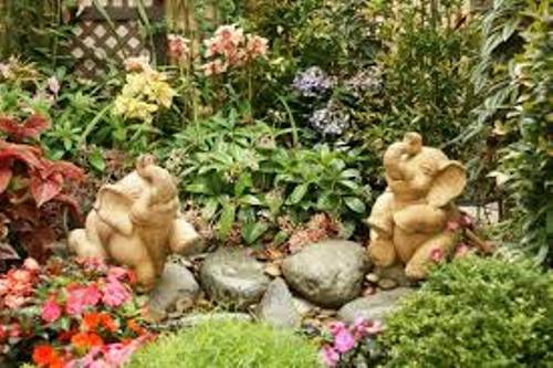 Stylish Garden with Flowers