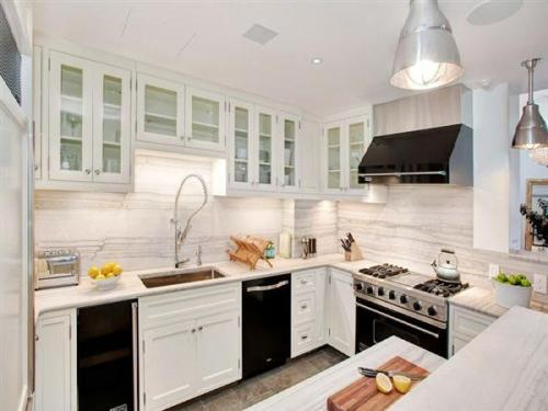 Stylish White Kitchen Cabinet