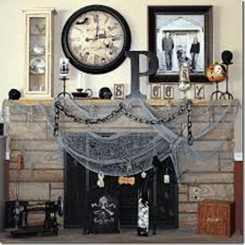 Unique Fireplace Mantel for Halloween