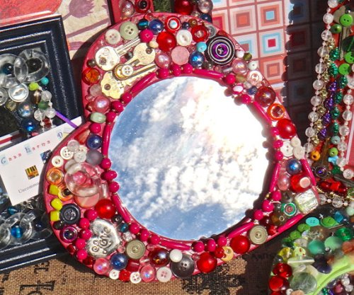 Unique Mirror Frame with Beads