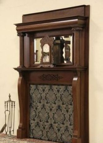 Wooden Victorian Fireplace Mantel