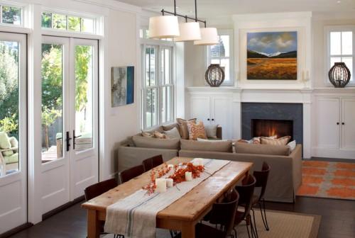 Impressive Living Room Dining Combo