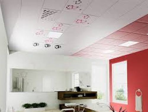 Bathroom Ceiling with Red Tone