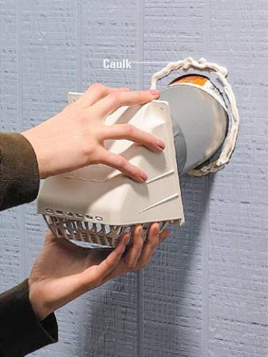 Bathroom Vent Through a Wall Installation