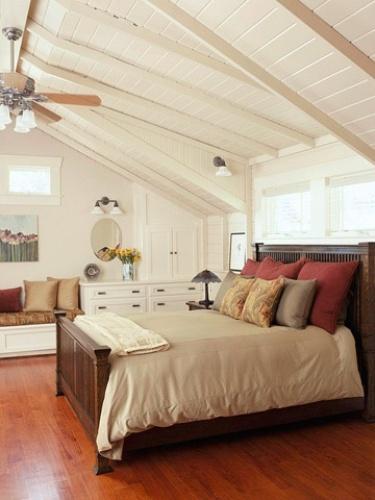 Bedroom with Slanted Ceilings
