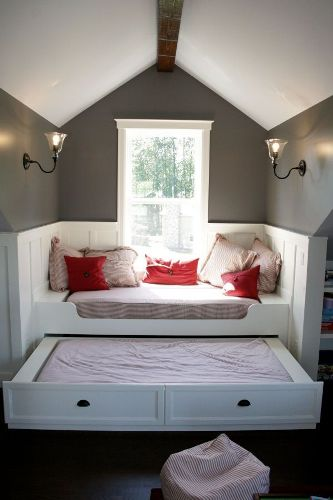 Bright Bedroom with Slanted Ceilings