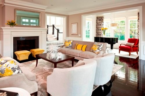 Fabulous Living Room with 2 Couches