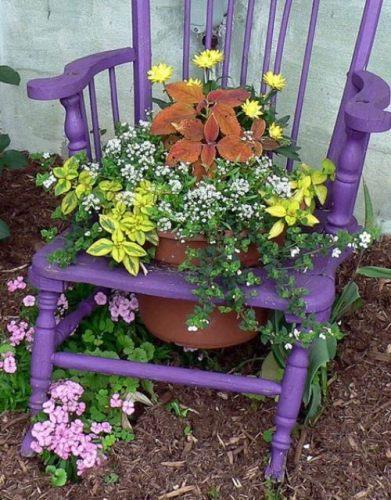 Flower Pots in the Garden