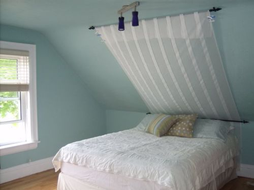 How to Arrange a Bedroom with Slanted Ceilings
