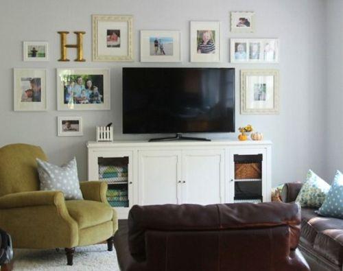 Living Room Around a TV