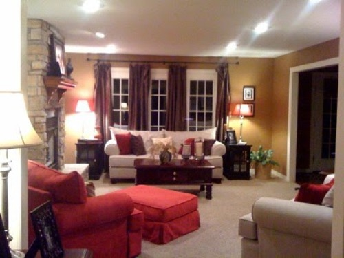 How to arrange living room with tv above fireplace 5 for Tv room arrangements