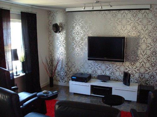 Luxury Living Room Around a TV