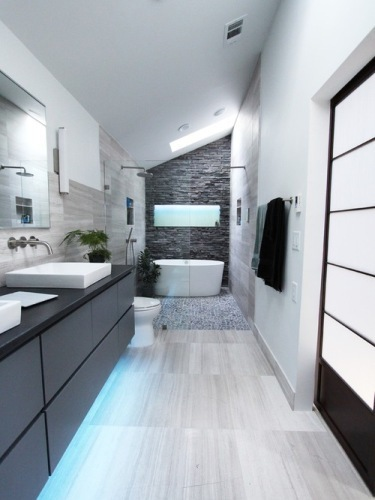Modern Bathroom Below Grade