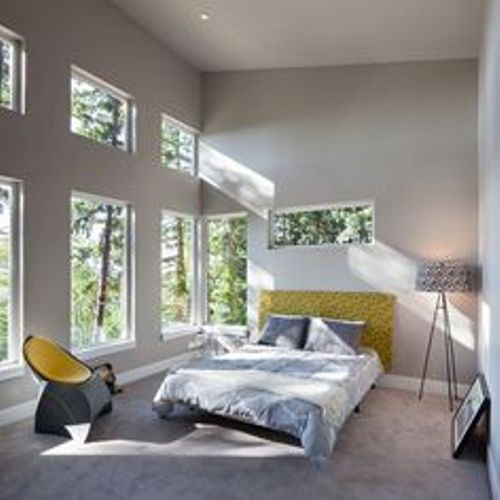 Nice Bedroom with a Lot of Windows