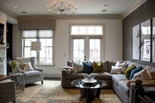 Nice Living Room with a Sectional Sofa