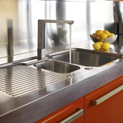 Stainless Steel Kitchen Sink Area