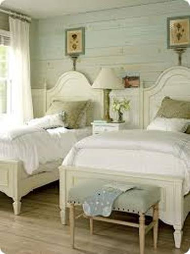 Charming Pillows on a Twin Bed