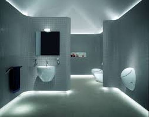 Contemporary Bathroom Fan with Light
