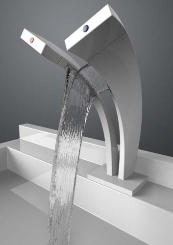 Curved Bathroom Faucet