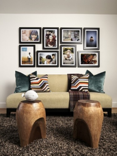 Family Pictures on a Large Wall Design