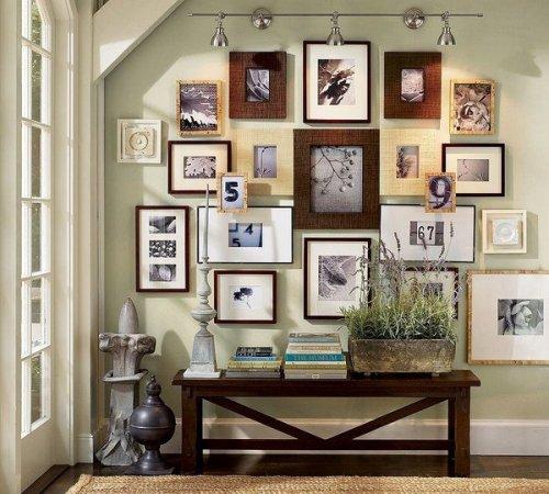 Modern Family Photos on Hallway Walls