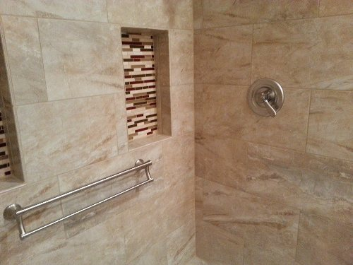Shower Grab Bars on Tiles