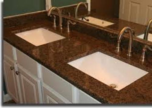 Brown Bathroom Granite Countertops