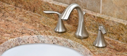 Fascinating Bathroom Faucet on Granite Countertop