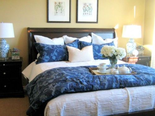 Nice Decorative Pillows on a Bed