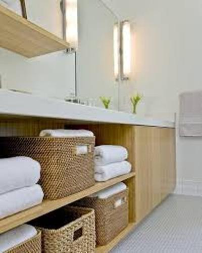 Arrange Bath Towels in a Basket