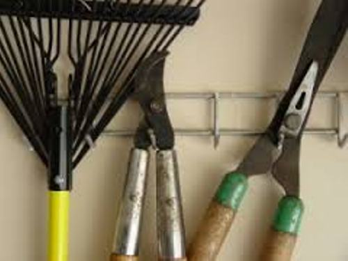 Garden Tools in Garage Organization