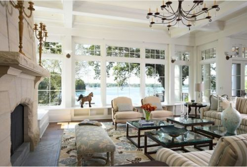 How to Arrange Furniture in a Living Room With Large Windows Style