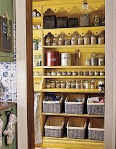 How to Organize a Kitchen Without Drawers Color