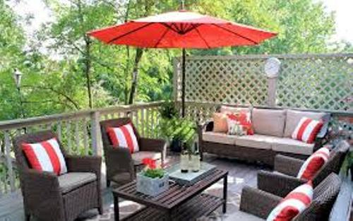 Patio Furniture on a Deck Images