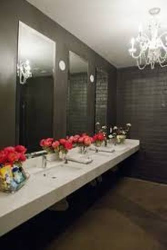 Bathroom for Wedding with Flowers