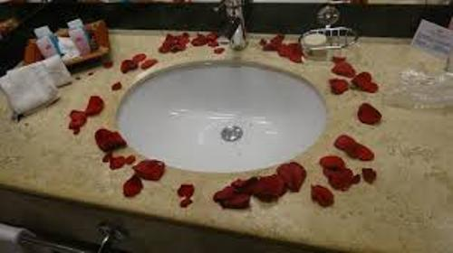 Bathroom for Wedding with Roses