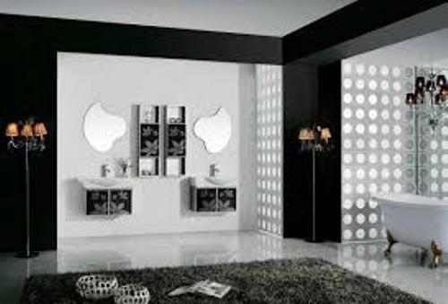 Bathroom in Black and White Decor