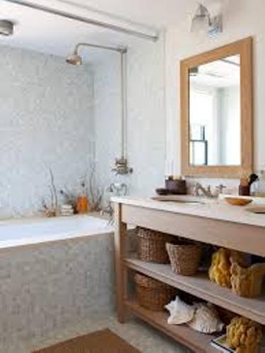 Bathroom in a Beach Theme in White