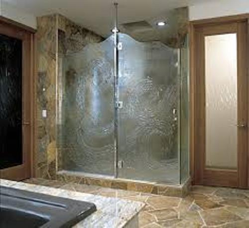Bathroom with Glass Door Design