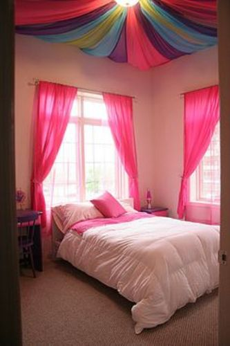 Bedroom Ceiling with Fabric Design