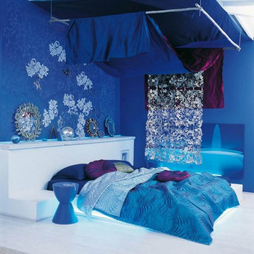 Bedroom Ceiling with Fabric for Winter