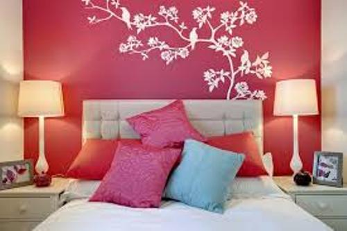 Bedroom Walls Teenage Girl with Flower