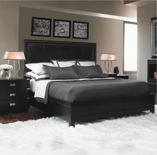 How to decorate a bedroom with black furniture 5 steps for Master bedroom black and white ideas
